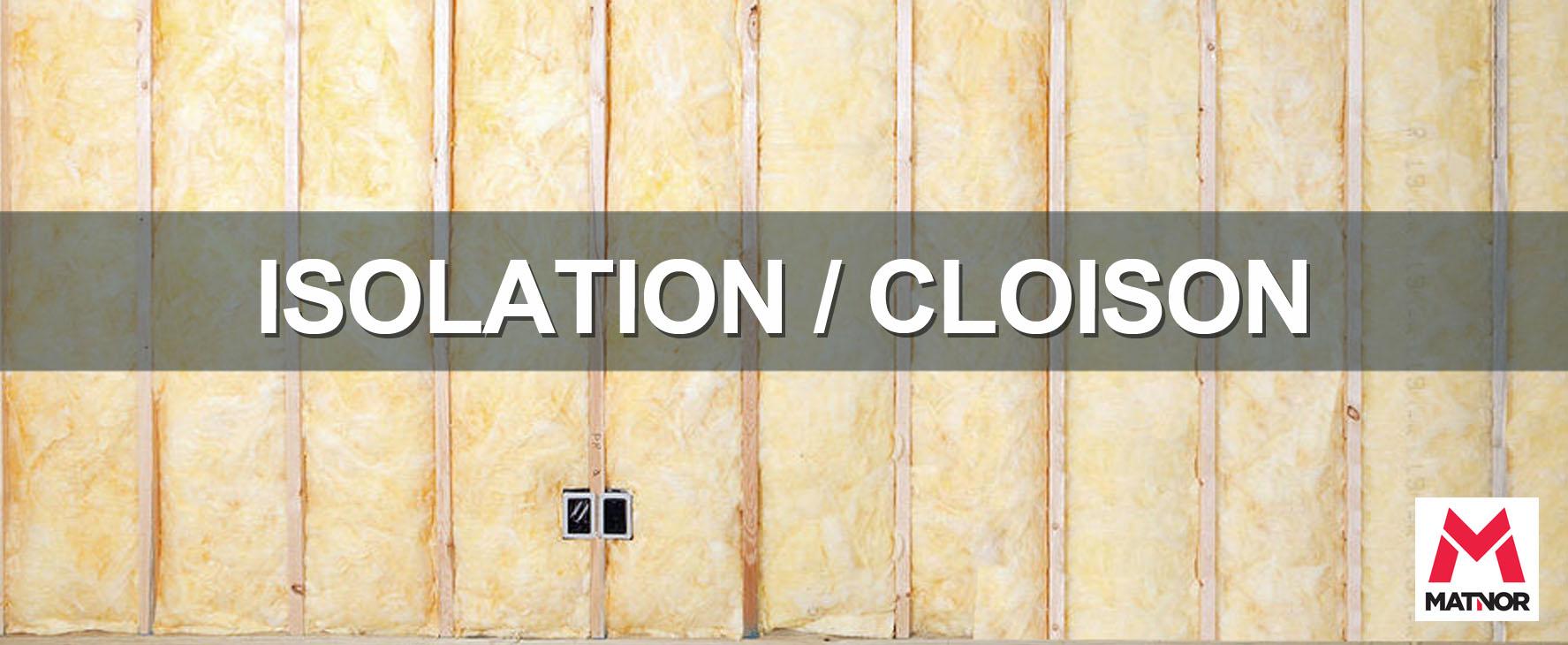 Bandeau isolation cloison
