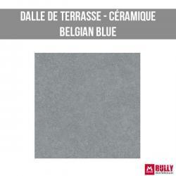 Dalle de terrasse ceramique belgian blue