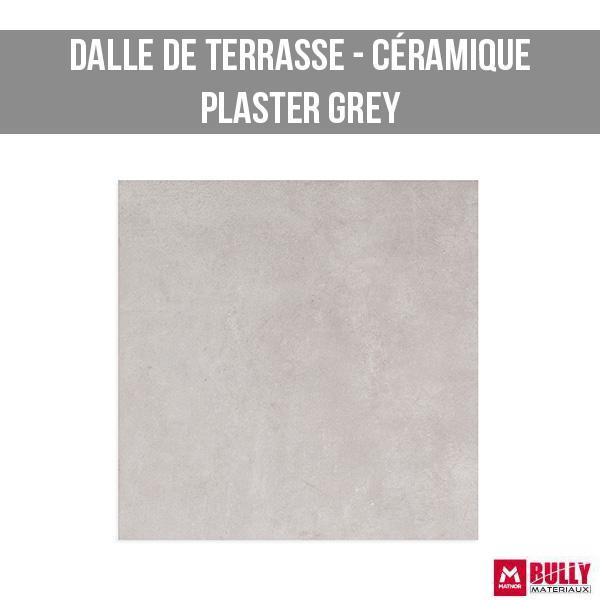 Dalle de terrasse ceramique plaster grey