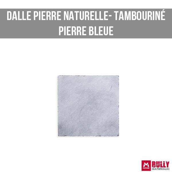 Dalle tambourine pierre bleue
