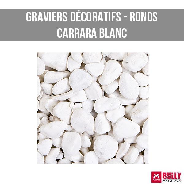 Gravier decoratif carrara blanc
