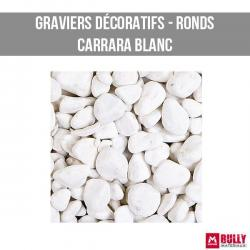 Gravier decoratif carrara blanc