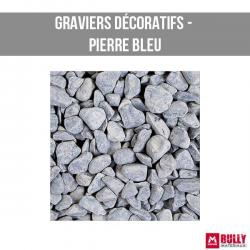 Gravier decoratif pierre leu