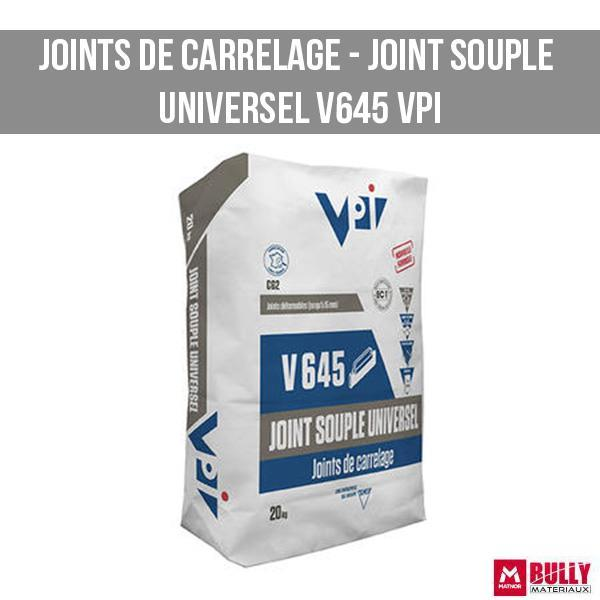 Joint de carrelage joint souple universel v645 vpi