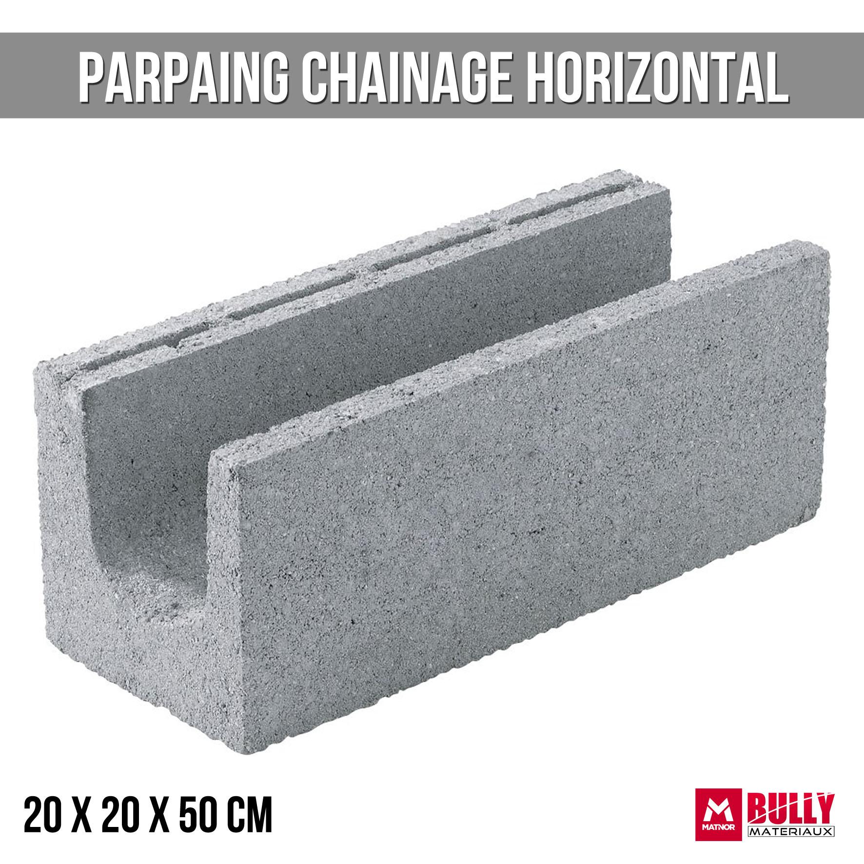 Parpaing ch horizontal 20