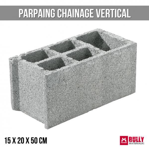 Parpaing ch vertical 15