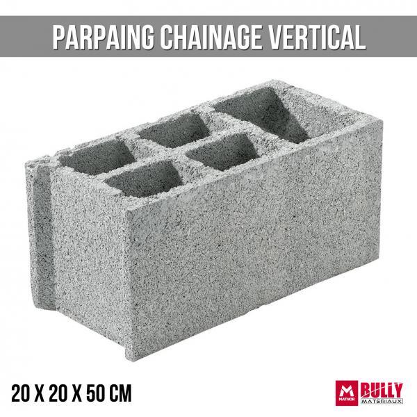 Parpaing ch vertical 20