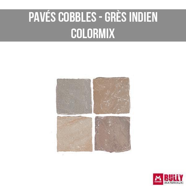 Pave cobbles kandla gres indien colormix
