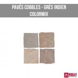 Pave cobles gres indien colormix
