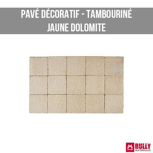 Pave decoratif tambourine jaune dolomite 1