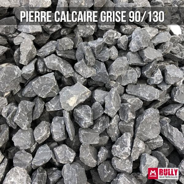 Pierre calcaire grise 90/130