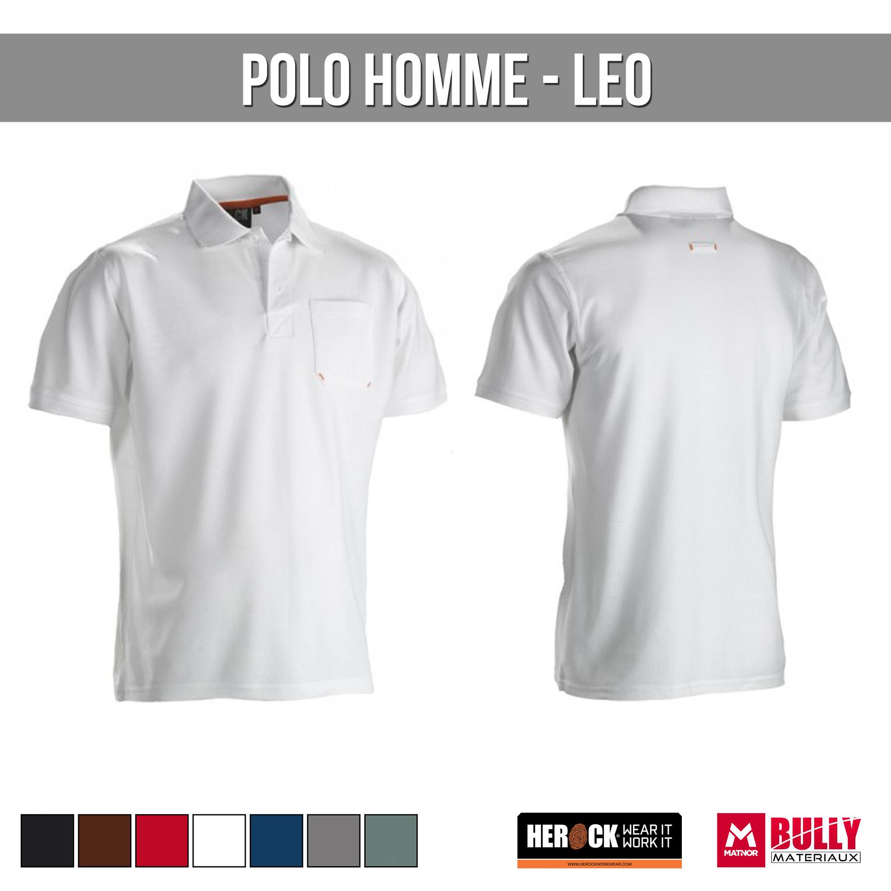 Polo homme leo