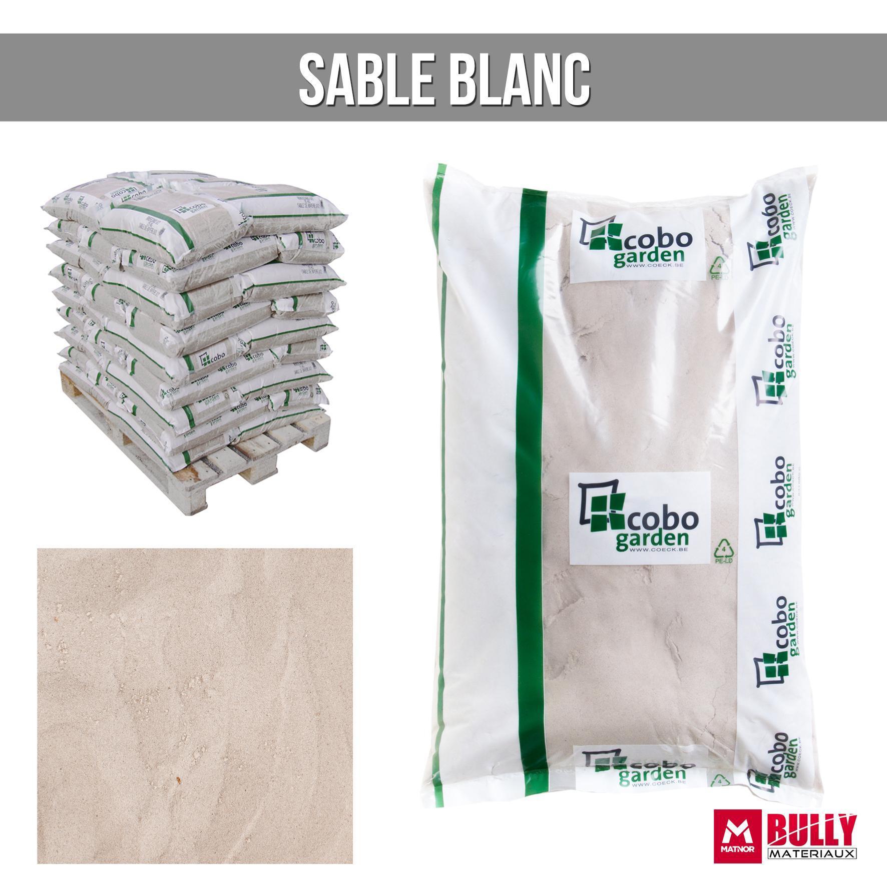 Sable blanc sac